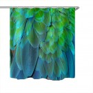 180x180CM Colorful Feathers Polyester Shower Curtain Style 1