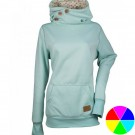 Long Sleeve Printed Hooded Sweatshirt with 3 Buttons