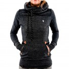 Long Sleeve Hoodies Sweatshirt with Pocket Black