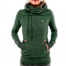 Long Sleeve Hoodies Sweatshirt with Pocket Green