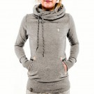 Long Sleeve Hoodies Sweatshirt with Pocket Light Grey