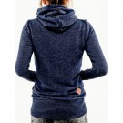 Long Sleeve Hoodies Sweatshirt with Pocket Navy Blue