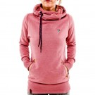 Long Sleeve Hoodies Sweatshirt with Pocket Pink
