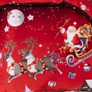 3PCS Merry Christmas Santa Claus Comfort Bedding Set
