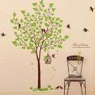 Tree With Bird Cage Decal