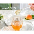 Food Grade Plastic Honey Pot with Dipper and Lid