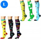 6 Pairs of Womens Knee Length Compression Socks Large