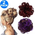 Messy Bun Scrunchie Hair Extension Style 1 and Style 2