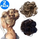 Messy Bun Scrunchie Hair Extension Style 3 and Style 4