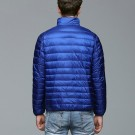 Mens Stand-up Collar Jacket K-6006 Royalblue