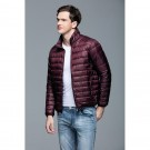 Mens Stand-up Collar Jacket K-6006 Winered