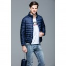 Mens Stand-up Collar Jacket K-6006 Navy