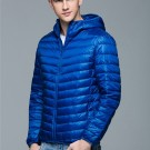 Mens Hooded Warm Jacket K-6007 Royalblue