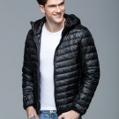 Mens Hooded Warm Jacket K-6007 Black