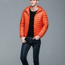 Mens Hooded Warm Jacket K-6007 Orange