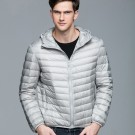 Mens Hooded Warm Jacket K-6007 Lightgrey