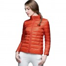 Womens Stand-up Collar Jacket K-6002 Orange