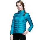 Womens Stand-up Collar Jacket K-6002 Blue