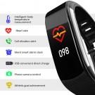 C6T Smart Watch Sports Bracelet Body Temperature Heart Rate Blood Oxygen Blood Pressure Monitor Black