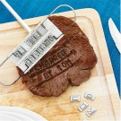 BBQ meat branding iron including set of letters