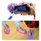 Multi-Function Chenille Fibre Washable Dust Mop Slippers