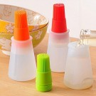 Kitchen Oil Brush Storage Bottles Silicone Bottle with Brush