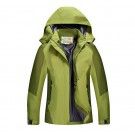 Outdoor Waterproof Winterproof Hooded Jacket for Women Green