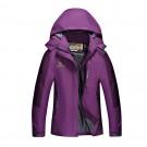 Outdoor Waterproof Winterproof Hooded Jacket for Women Purple