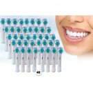 40pcsOral B-Compatible 3D Whitening Toothbrush Heads