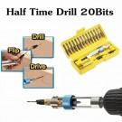 2 X Quick Flip 20-Piece DIY Bit Tool Screwdriver Sets