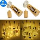 2 Pack Funky Bottle Stopper String Lights Warm White