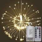 120 Bright Remote Control Explosion Star LED Fireworks Light Warm White
