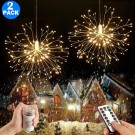 2 Pack 198 Bright Remote Control Explosion Star LED Fireworks Light Warm White