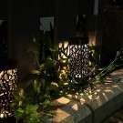 4 Pcs Solar Powered LED Garden Lights Warm White