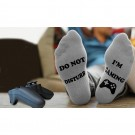 4 Pairs Of Mens Funny Do Not Disturb I'm Gaming Ankle Socks One Size