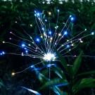 4 X DIY Solar Powered LED Garden Decorative Lights Multicolour