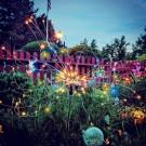 2 X DIY Solar Powered LED Garden Decorative Lights Multicolour