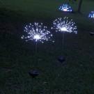 4 X DIY Solar Powered LED Garden Decorative Lights White