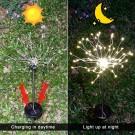 2 X DIY Solar Powered LED Garden Decorative Lights Warm White