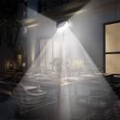 2 X 100 LEDs 4 Side Illumination Solar Powered Motion Sensor Lights
