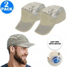 2 X Unisex Outdoor UV Protection Cooling Caps