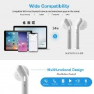 H17T 5.0 Bluetooth TWS Bass Stereo Wireless Earbuds with Charging Case White