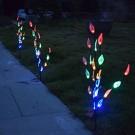 3PCS Solar Powered LED Leaf Tree Branch Lights Set Multicolor