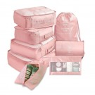 8PCS Travel Luggage Packing Cubes Organizers Set Pink