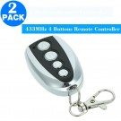 2 Pack 433MHz 4 Buttons Copying Remote Control Transmitters