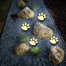 2 Pack Solar Powered Paw Print Design Garden Lights