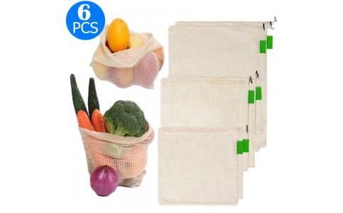 6PCS Shopping Mesh Bags Set