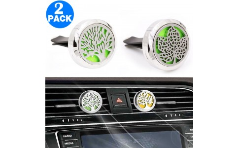 2 X Aromatherapy Essential Oil Car Vent Diffuser with One Felt Pad Set 2