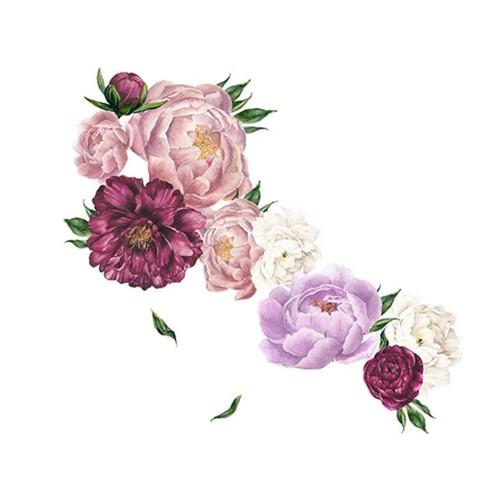 Flower Wall Sticker Purple