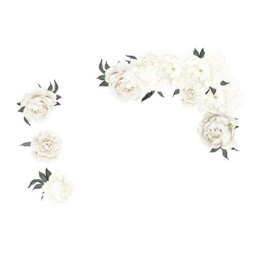 Flower Wall Sticker White